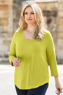 Plus Size - Sara Scoop Hem Knit Top