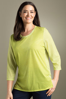 Plus Size - Sara Striped Tee