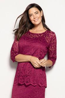 Plus Size - Sara Stretch Lace Layer Top