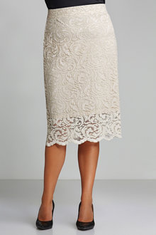 Plus Size - Sara Stretch Lace Skirt