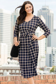 Plus Size - Sara Workwear Dress