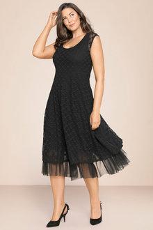 Plus Size - Sara Lace Party Dress