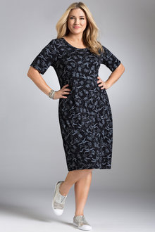 Plus Size - Sara Scoop Neck Dress