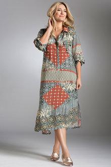 Plus Size - Sara Roll Sleeve Shirt Dress