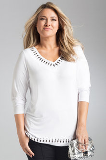 Plus Size - Sara Trim Top
