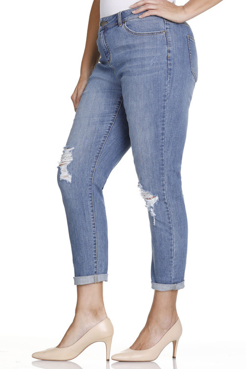 Plus Size - Sara Fashion Boyfriend Jean