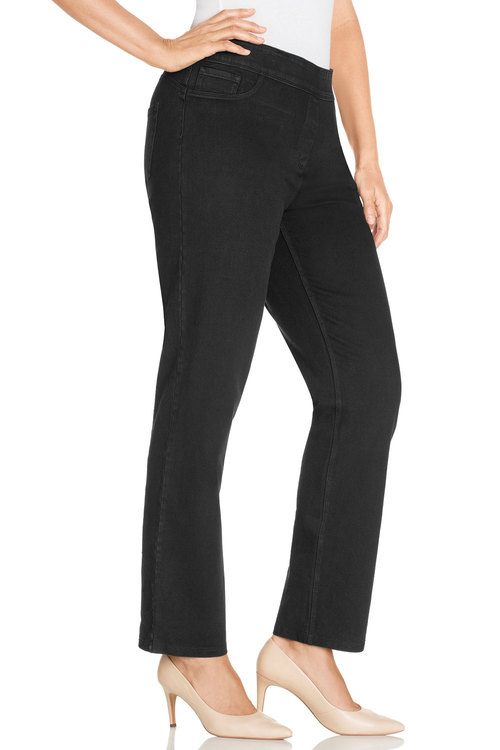 Sara Elasticated Straight Leg Jeans