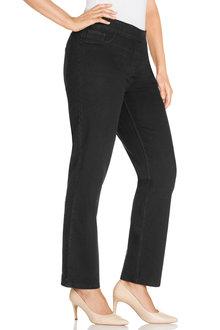 Plus Size - Sara Elastic Waist Straight Leg Jean - 168643