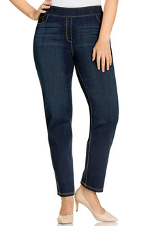 Plus Size - Sara So Slimming Straightleg Jean