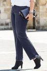 Plus Size - Sara Elastic Waist Straight Leg Jean