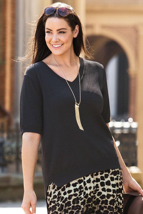 Plus Size - Sara High Low Sweater