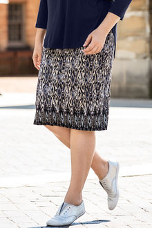 Plus Size - Sara Knit Midi Skirt
