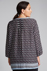 Plus Size - Sara Printed Viscose Shirt