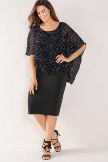 Plus Size - Sara Overlay Dress - 168948