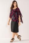 Plus Size - Sara Overlay Dress