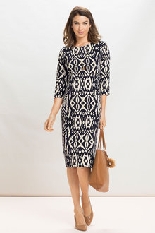 Grace Hill Print Shift Dress