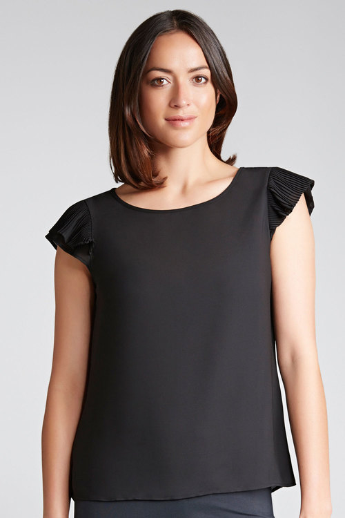 Capture Pleat Sleeve Top