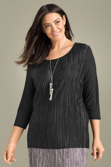 Plus Size - Sara Fine Pleat Top