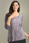 Plus Size - Sara Fine Pleat Top
