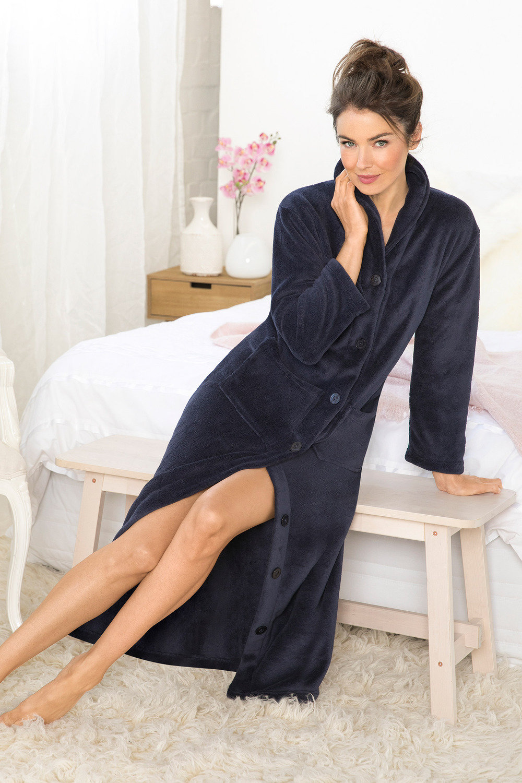 Mia Lucce Button Robe Online Shop Ezibuy
