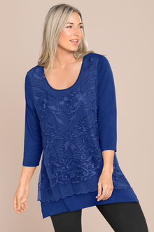 Plus Size - Sara Lace Layer Top