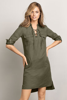 Emerge Lace-Up Dress