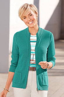 Capture European Zipped Cardigan