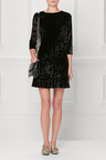Next Black Velvet Dress