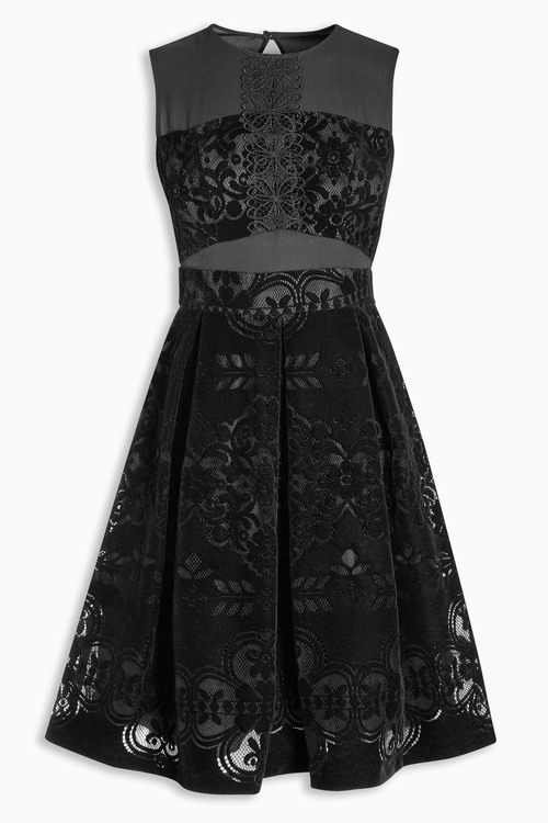 Lace velvet dress next
