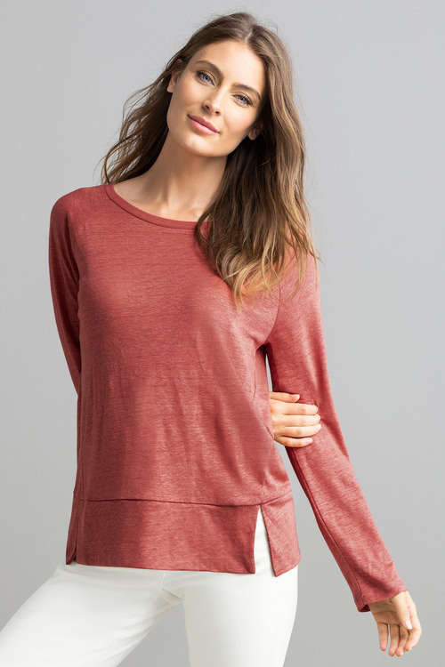 Capture Long Sleeve Linen Tee