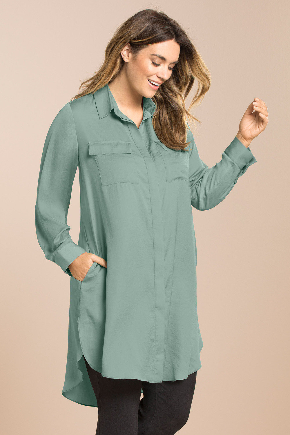 49df9379b8c Plus Size - Sara Relaxed Longline Shirt
