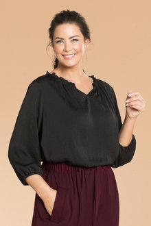 Plus Size - Sara Relaxed Gathered Blouse