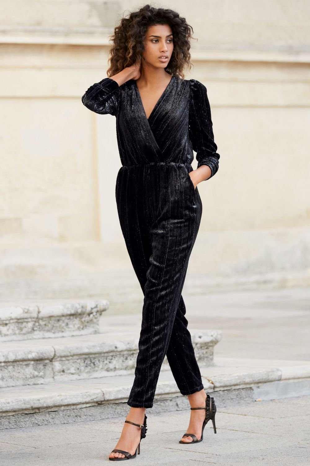 4ada710fa714 Next Black Velvet Jumpsuit - Tall Online