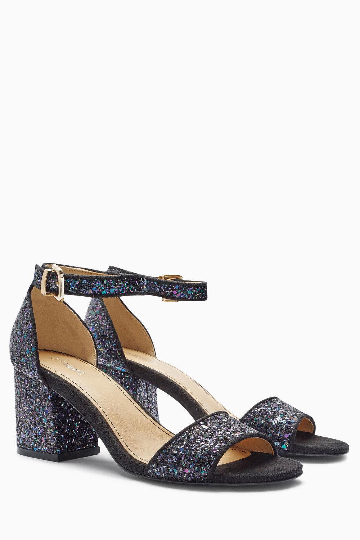 d75e6372dda Next Glitter Low Block Heel Sandals Online
