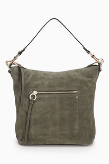 Next Leather And Suede Shoulder Bag