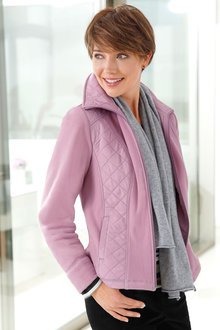 Capture European Quilted Detail Fleece Jacket