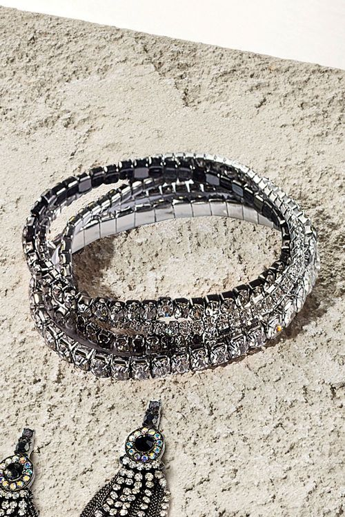 Next Gunmetal Tone Sparkle Expander Bracelet Pack