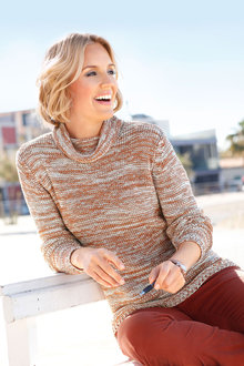 Capture European Cowl Neck Pullover