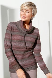 Capture European Drawstring Cowl Neck Pullover