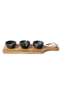 Quinn Condiment Bowl and Board Set