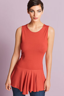 Capture European Peplum Sleeveless Top