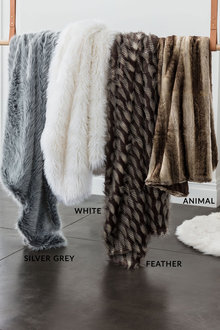 Nile Faux Fur Throw