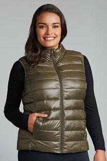 Plus Size - Sara Puffer Vest - 170352