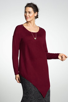 Plus Size - Sara Zip Detail Sweater