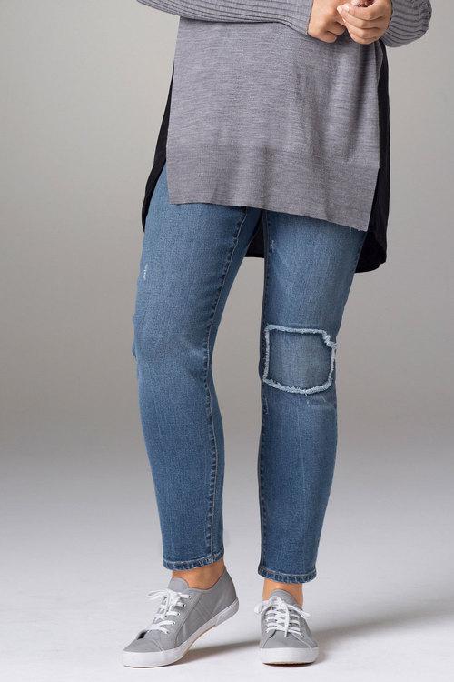Plus Size - Sara Patchwork Detail Jean
