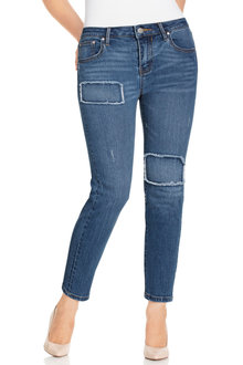 Plus Size - Sara Patchwork Detail Jean