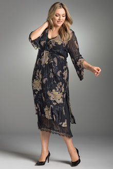 Plus Size - Sara Layer Dress with Slip