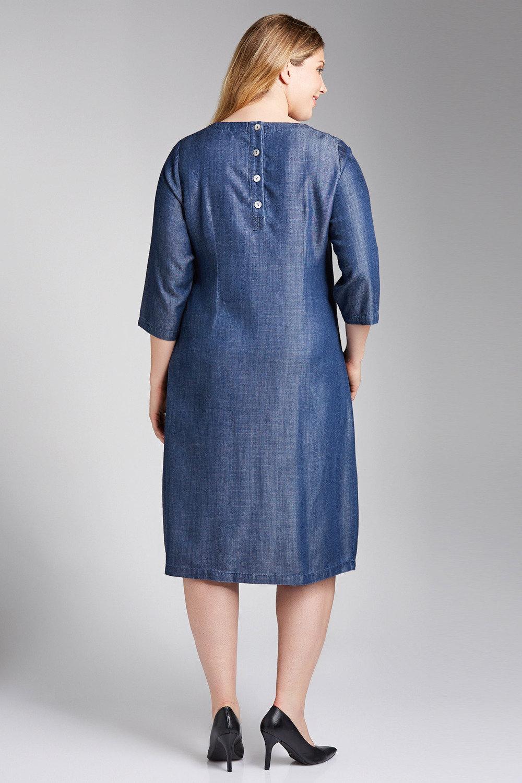 02c4e82f37865 Plus Size - Sara Lyocell Drape Dress