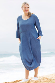 Plus Size - Sara Lyocell Drape Dress