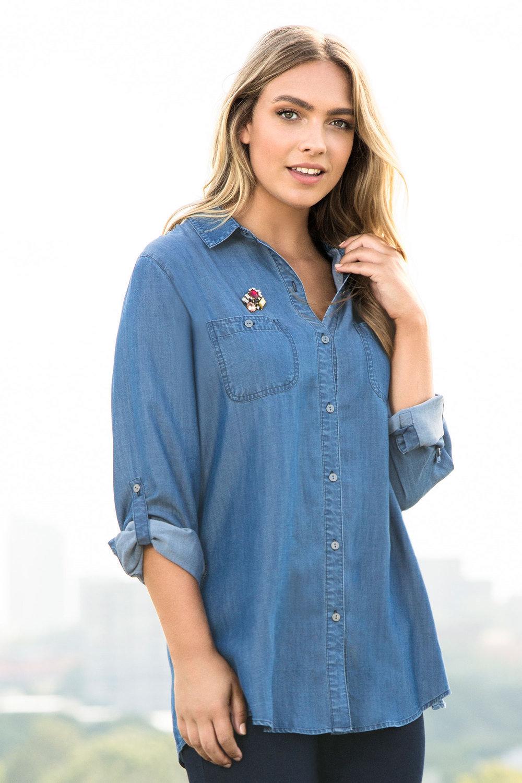 bb658bfe558 Plus Size - Sara The Lyocell Shirt
